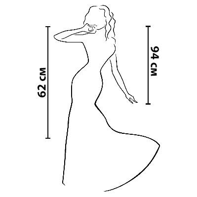 Размерная сетка на платье Диамант