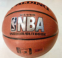 Мяч баскетбольный №7 SPALDING NBA SILVER, фото 1