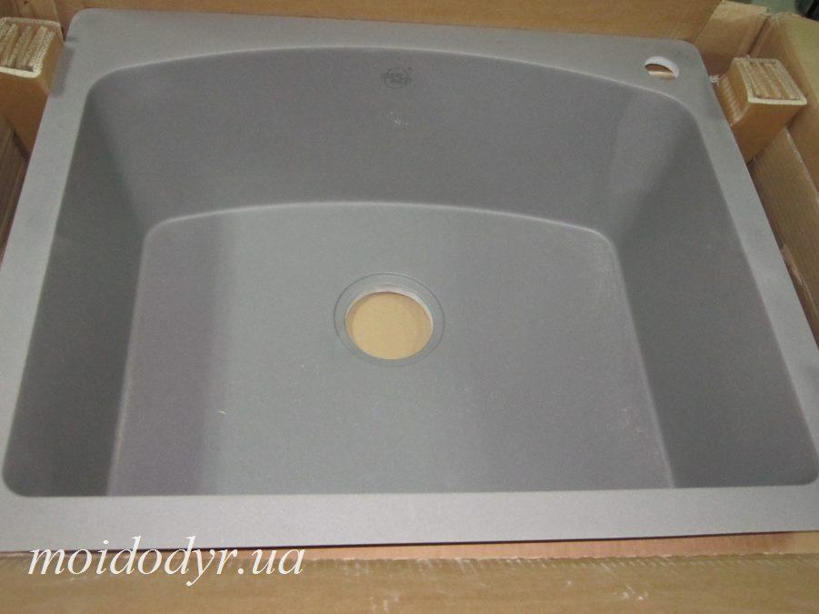Мойка кухонная гранитная врезная Vered D-3001 Grey Granit