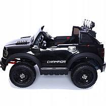Детский электромобиль JEEP RAW LONG черный + 2 мотора по 45 ватт + EVA колеса + Кожа сидение , фото 3