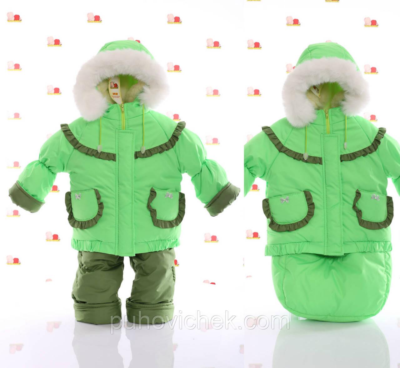 Дитячий зимовий комбінезон трансформер для хлопчиків