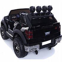 Детский электромобиль JEEP RAW LONG красный + 2 мотора по 45 ватт + EVA колеса + Кожа сидение , фото 3