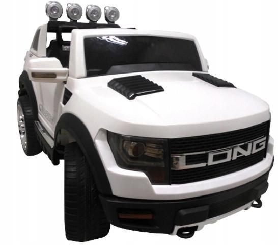 Детский электромобиль JEEP RAW LONG белый + 2 мотора по 45 ватт + EVA колеса + Кожа сидение