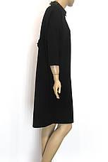 чорное платье осень зима свободного покроя, фото 3