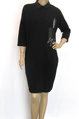 чорное платье осень зима свободного покроя, фото 2