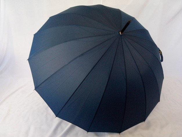 Мужской  зонт - трость на 16 карбоновых спиц цвет синий