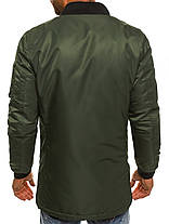 Осенняя мужская куртка J. Style оливковая, фото 2