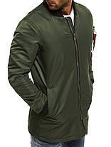 Осенняя мужская куртка J. Style оливковая, фото 3