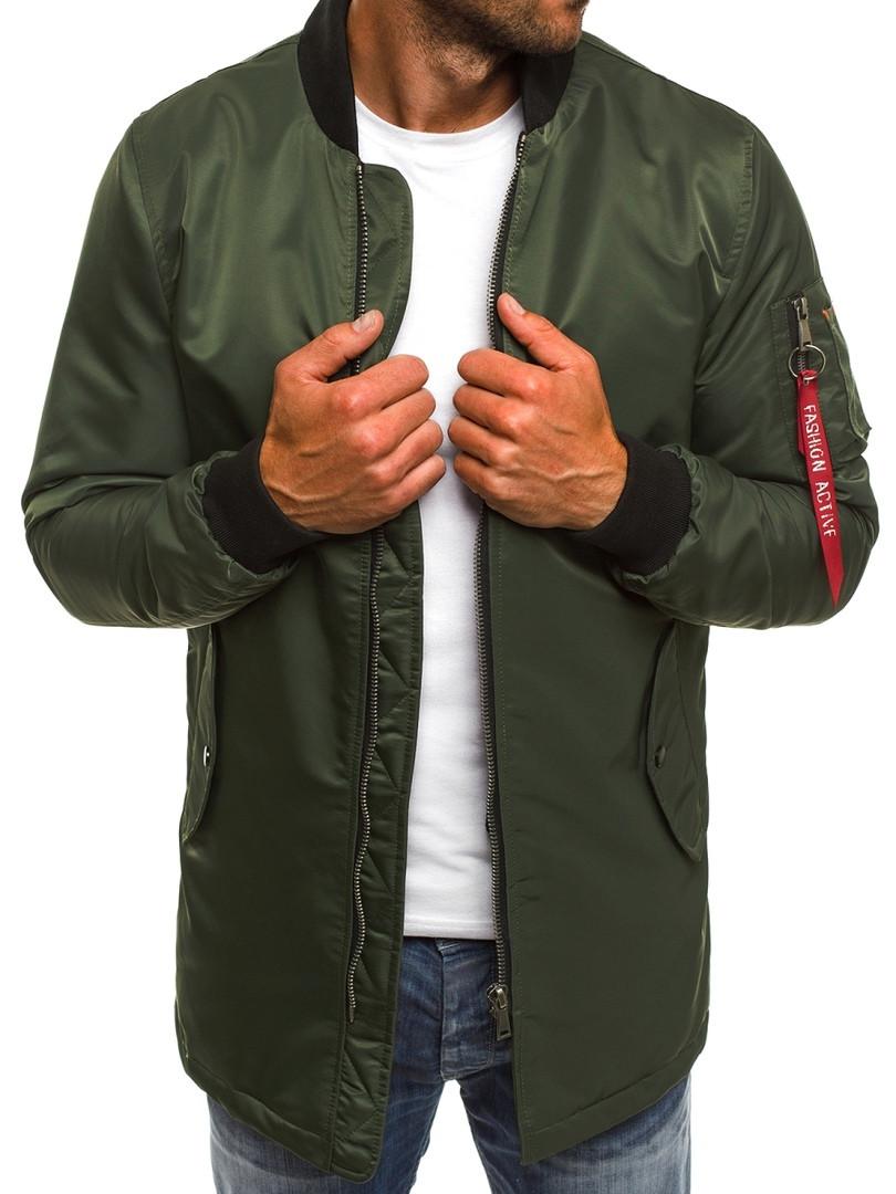 Осенняя мужская куртка J. Style оливковая