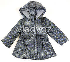 Детская куртка для девочки демисезонная серая 2-3 года