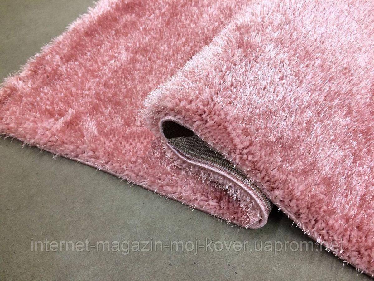 Нежно розовый ковер из нейлона ворсистый шагги 3 см