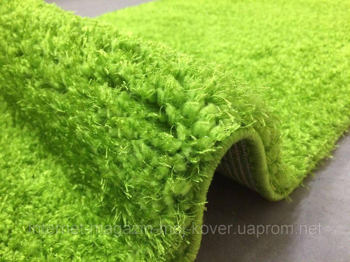 Сочный ярко зеленый ковер шегги из нейлона, мягкие пушистые коврики Николаев