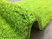 Сочный ярко зеленый ковер шегги из нейлона, мягкие пушистые коврики Николаев, фото 1