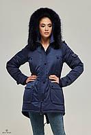 Куртка парка женская ML синяя