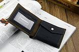 Чоловічий гаманець портмоне Pidengbao Grey, фото 3