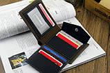 Чоловічий гаманець портмоне Pidengbao Grey, фото 4