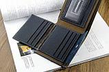 Чоловічий гаманець портмоне Pidengbao Grey, фото 5
