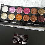 Палитра из 12 оттенков Глиттеров Get glitter eyeshadow extra shimmer DoDo Girl, фото 4