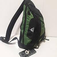 Городской рюкзак One polar 20 л W1249 на одно плечо зеленый