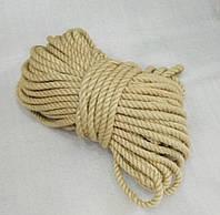 Веревка джутовая крученная - 16 мм./50 м.