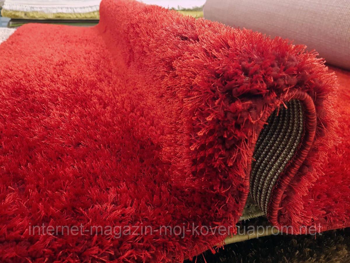 Ковер ярко красного цвета на пол, напольные ковры, ковры в гостиную и спальню