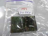 Кабошон камень моховый агат размер 17*22 мм