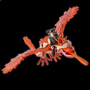 Как приручить дракона: дракон Кривоклык в броне с всадником Сморкалой SM66607-2  Spin Master