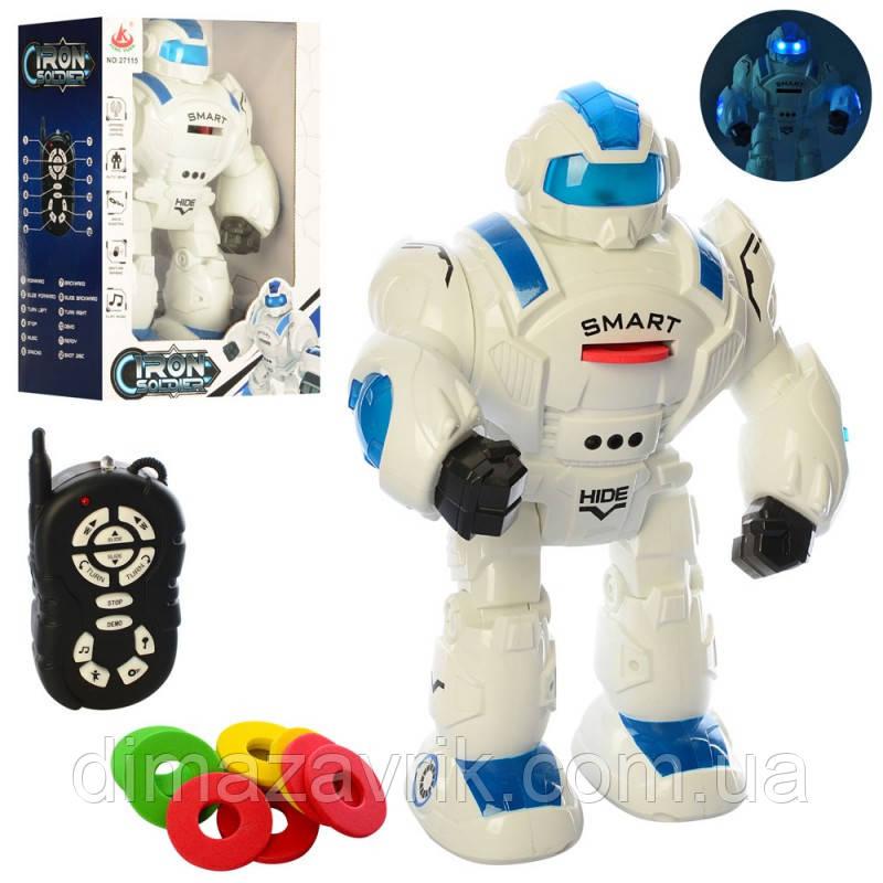Робот 27115 р/у, 36 см, ходит, ездит, стреляет дисками