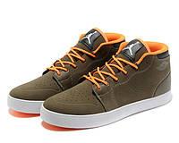 Кроссовки Jordan AJ V1 Chukka khaki orange, фото 1