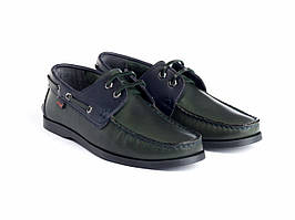 Топ-сайдеры Etor 8066-968-3 42 зеленые