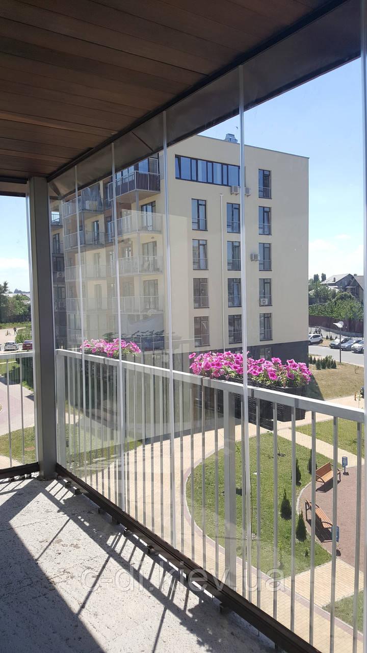 Ограждение балконное (безрамное)