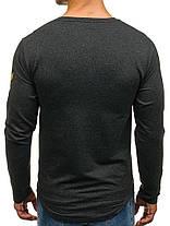Лонгслив мужской Athletic серый, фото 3