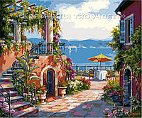 "Картина по номерам ""Уютная терраса у моря"", VD068, 30х40см."