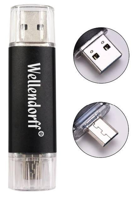 Новый USB флеш накопитель 32Gb с MicroUSB