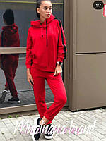 Женский стильный спортивный костюм красный