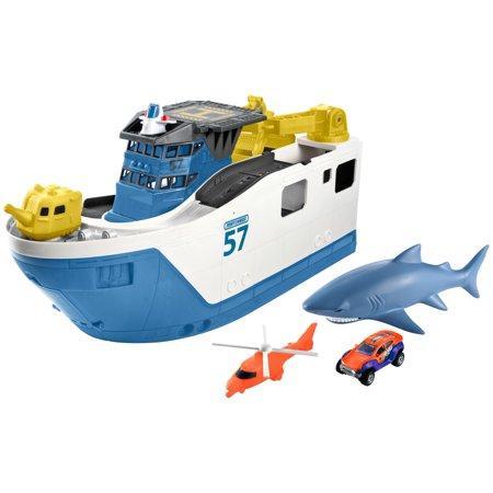 Игровой набор Корабль с акулой Matchbox Shark Ship