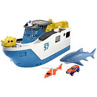 Игровой набор Корабль с акулой Matchbox Shark Ship, фото 1