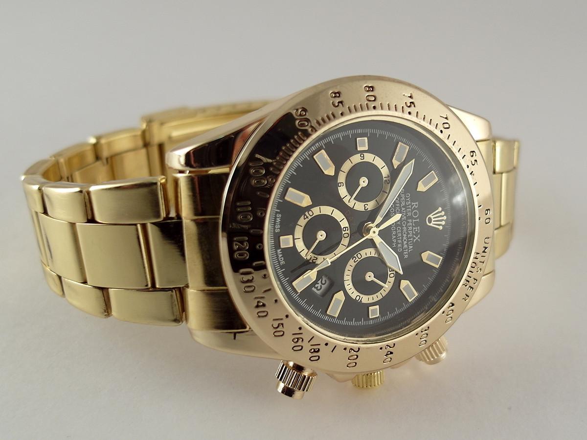 8bd19d4bcca2 Мужские часы Rolex Daytona черный цвет циферблата, цена 299,25 грн ...
