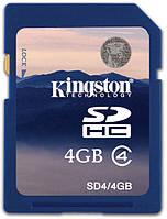 Карта памяти kingston sdhc 4 Гб class 4 (sd4/4gb)