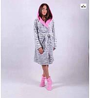 """Махровый женский халат с капюшоном р.42-54 """" Марго"""""""