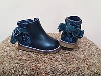 Ботинки деми- рр 19-21 Clibee синие на байке