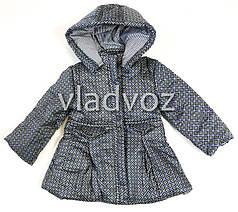 Детская куртка для девочки демисезонная серая 3-4 года