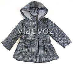 Детская куртка для девочки демисезонная серая 4-5 лет