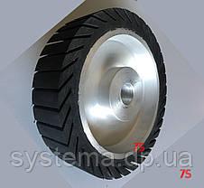 Шлифовальный барабан, д. 200х50,0х25,4 мм, для лент 50х628-632 мм, расширяющийся от вращения, резиновый, фото 3