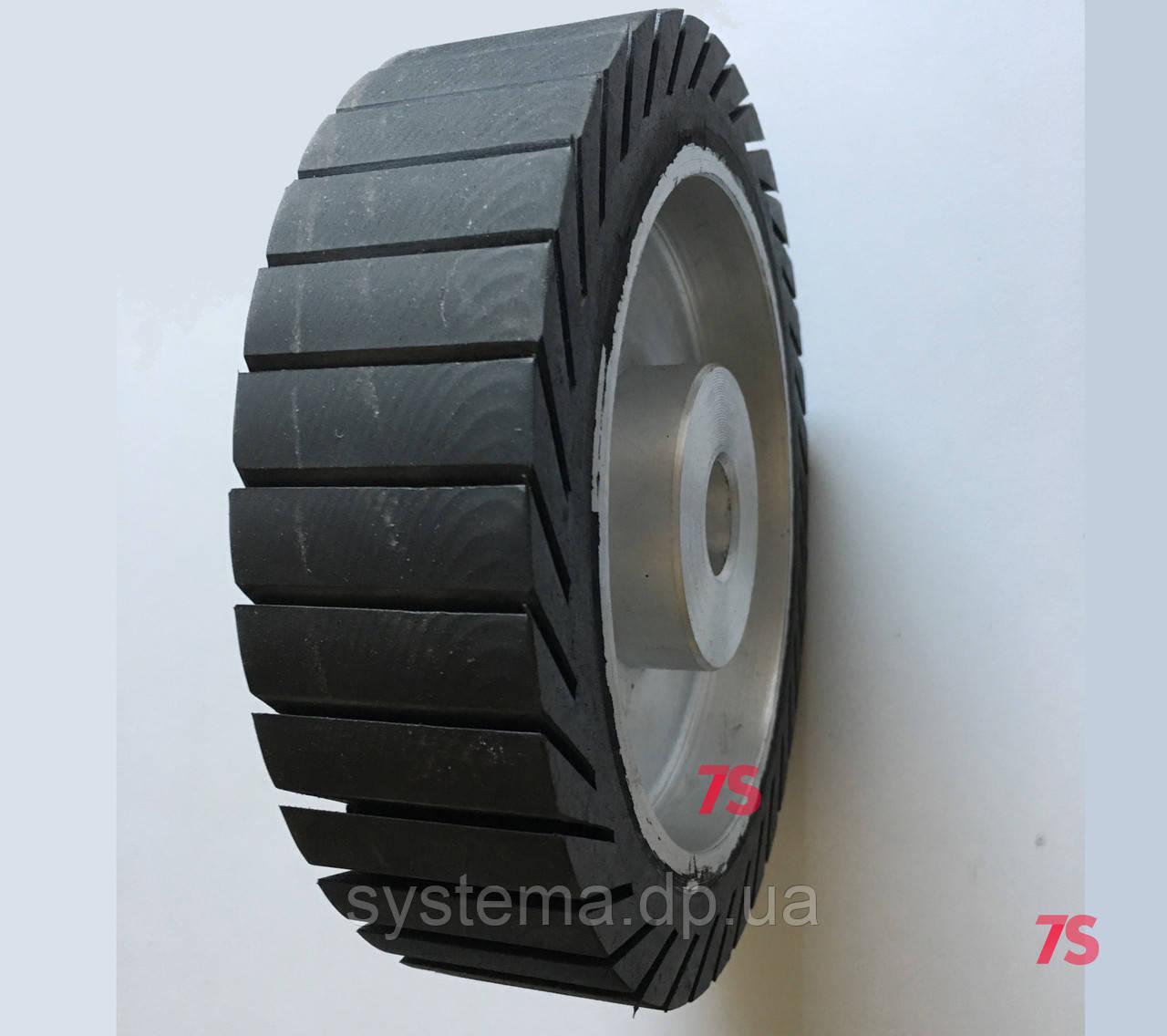 Шлифовальный барабан, д. 200х50,0х25,4 мм, для лент 50х628-632 мм, расширяющийся от вращения, резиновый