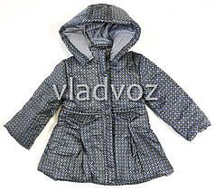 Детская куртка для девочки демисезонная серая 5-6 лет