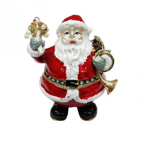 Шкатулка новогодняя для украшений Дед мороз