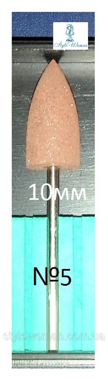Шлифовщик силиконовый насадка фреза кукуруза Коричневая №5 для аппаратного педикюра и маникюра