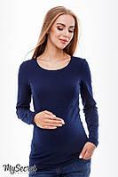Лонгслив для беременных и кормящих CAROLINE, темно-синий 1, фото 1