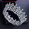 Круглая корона под серебро для невесты, высота 5,5 см.